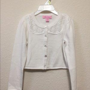 Nwot Lilly Pulitzer white sweater sz Xs